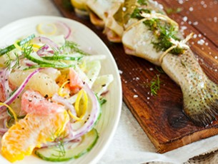 Goatsbridge Smoked Trout with Fennel & Citrus Salad