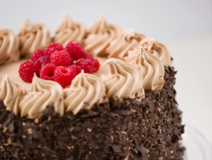 Chocolate sponge with buttercream icing