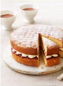 Victoria Sponge Cake sliced