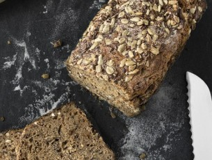healthy seeded brown bread